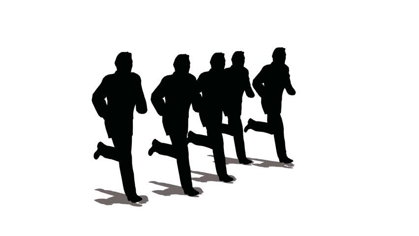running children silhouette stock footage video 344611