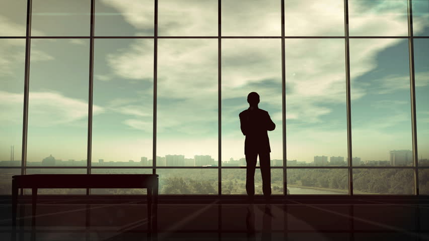 Silhouette of man and corporate infographics | Shutterstock HD Video #34475755