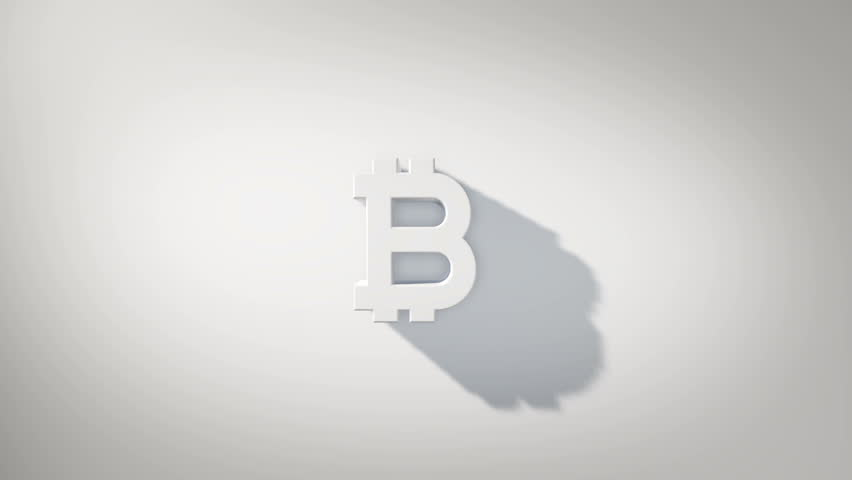 Golden Bitcoin logo animation like Netflix, on minimalistic white background