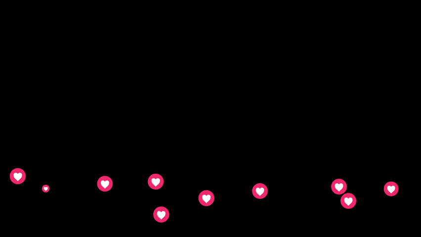4K Social media animation showing Facebook likes as hearts floating across the screen, viewers reacting to a live event | Shutterstock HD Video #34546936