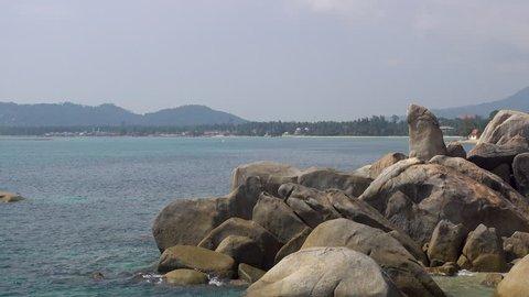 Hin Ta Hin Yai are also known as Grandmother and Grandfather Rocks on Koh Samui. Hin Ta Hin Yai are situated south of Lamai Beach on Koh Samui, close to Hua.
