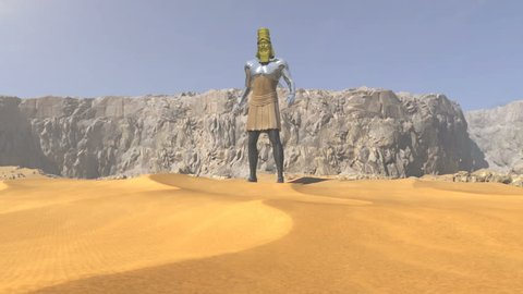 3D animation of Nebuchadnezzar's Dream Statue from Daniel Chapter 2 in the Bible, showing the future Kingdoms.