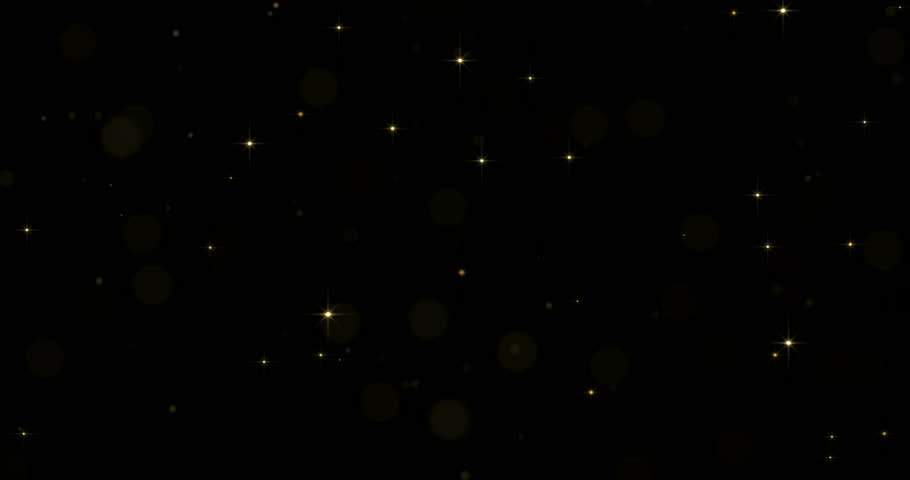 Gold star particles with starglow sparkling or shimmering light effect on black background.  | Shutterstock HD Video #34698535