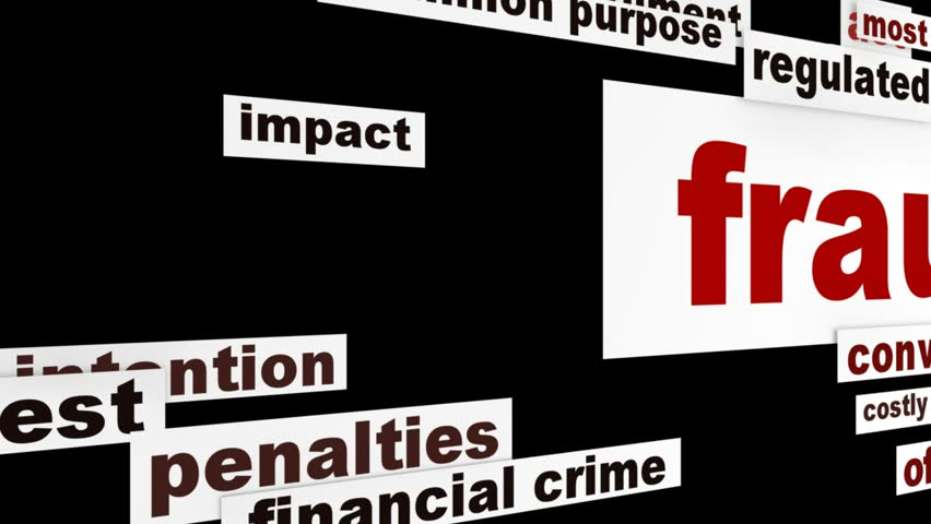 Fraud message conceptual design. Criminal offence creative words concept