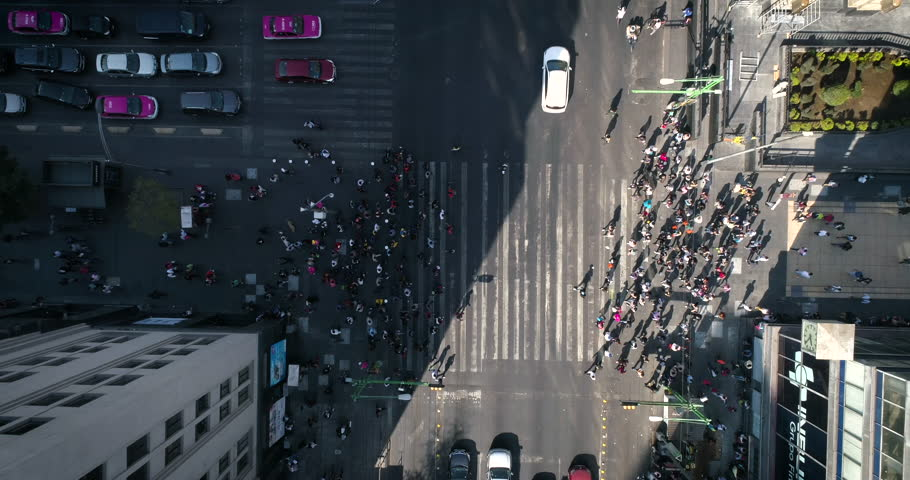 cruce de personas, Mexico City, Timelapses