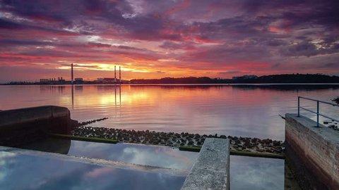 Sunrise Time Lapse at the Johor Bahru River