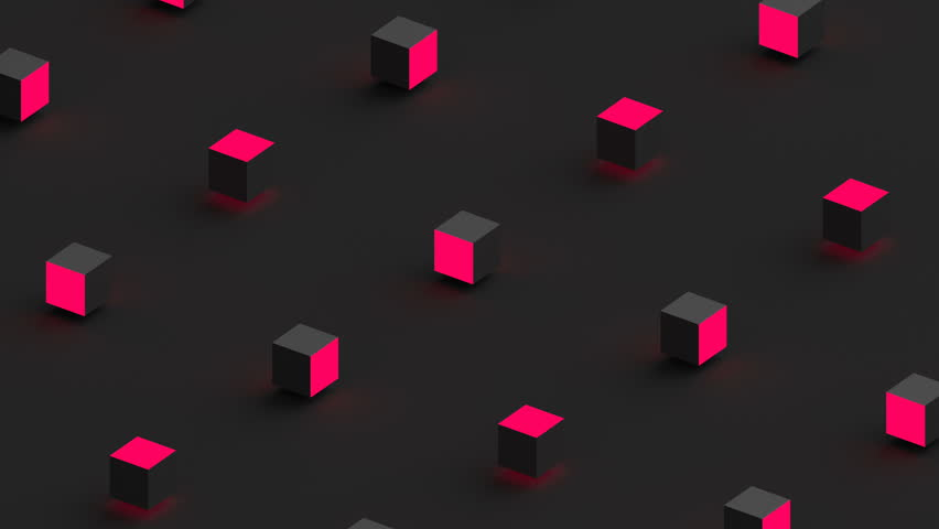 Abstract 3d rendering of geometric shapes. Computer generated loop animation. Modern background, seamless motion design for poster, cover, branding, banner, placard. 4k UHD