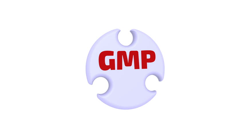 GMP. Good Manufacturing Practice. The check mark in the form of a puzzle. The inscription - GMP. Good Manufacturing Practice on the puzzle in the shape of a circle. Footage video | Shutterstock HD Video #34854892