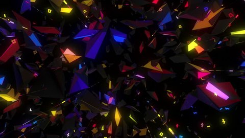 magic neon polygonal kaleidoscope visual loop for concert, night club, music video, events, show, fashion, holiday, exhibition, LED screens and projection mapping.