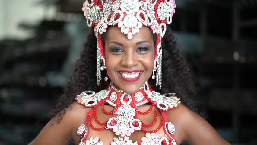 Portrait of Brazilian Woman at Carnaval