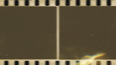 Set Vintage Background. Old Film Countdown, scratched film strip background