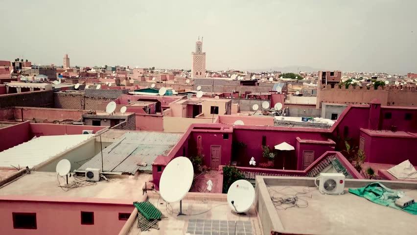 Drone footage of Marrakech, Morocco. Morocco drone over old Medina. Marrakech Medina drone footage. flying up. Marrakech video. Morocco video. Marrakech old Medina video drone footage