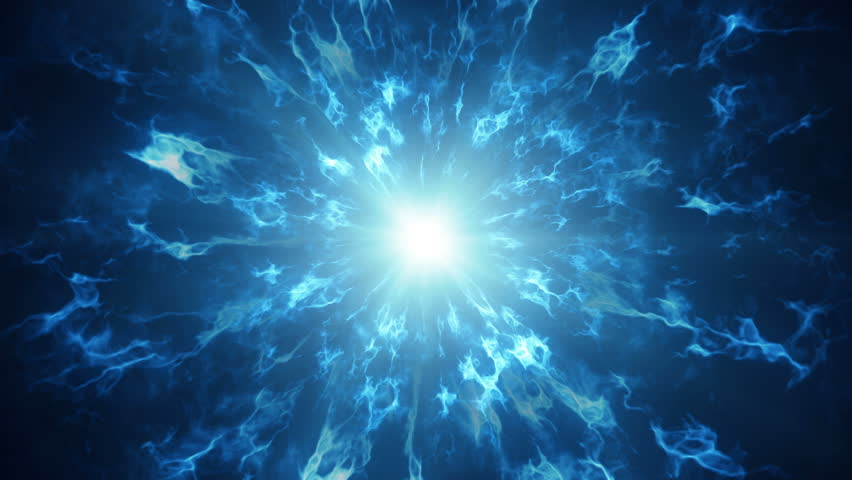 Fractal blue plasma waves. Abstract science fiction futuristic concept. Computer generated seamless loop animation 4k (4096x2304) #34964905