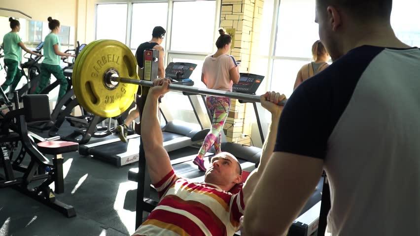 athlete motivates his friend