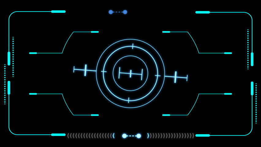 HUD Futuristic Elements Target Monitor User Control Interface Screen Panel. Motion Hologram Scifi Sound Wave Indicator In Green Hi Technology Future Frame. | Shutterstock HD Video #34985725