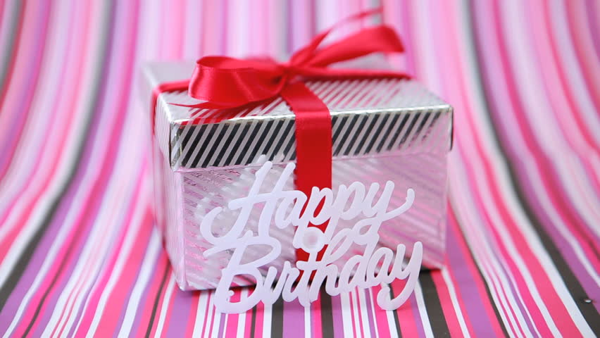 Stock video of focus on birthday gift on pink 3502325 shutterstock negle Image collections
