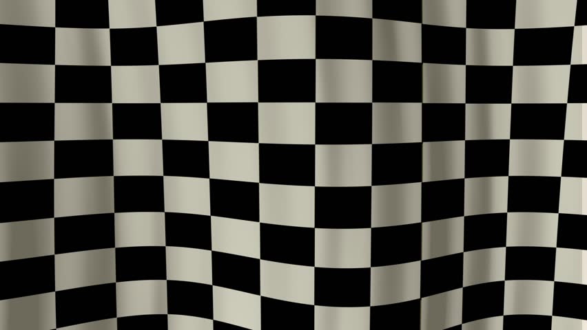 Looping checkered flag animation HD