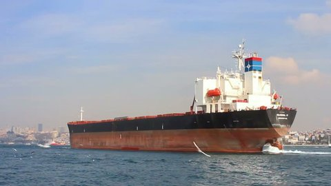 Tanker Ship On Route to Stock Footage Video (100% Royalty-free