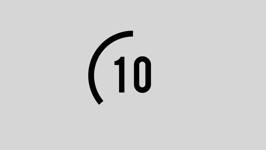 Modern Minimal Counting Down from 10 to 0