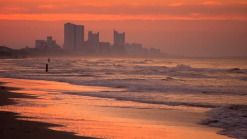 A beautiful sunrise in Myrtle Beach, South Carolina on a summer morning