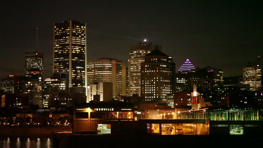 October 23rd 2012 - Cityscape at night, Montreal, Quebec, Canada