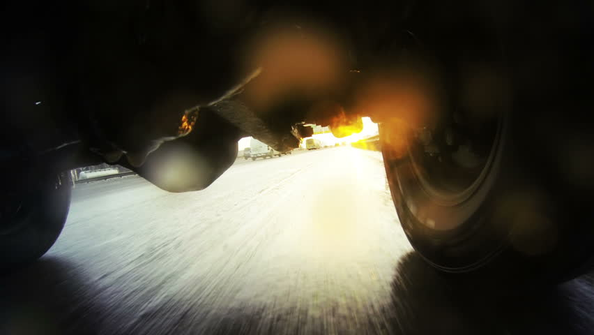 Off-road automobile in motion. Moscow. pov.