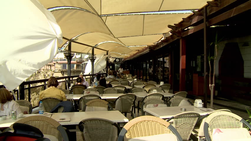 AL RAOUCHE, BEIRUT - CIRCA 2012: People Eating At Outdoor Restaurant On Al-Raouche Cliffside Coast Stock Footage Video 3596615 | Shutterstock