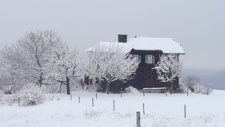 beautiful traditional snow