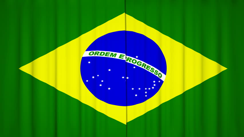 opening brazilian curtains, with alpha channel