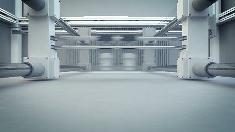 3D Printing (Additive Manufacturing) is turning the impossible into the possible. 3d animation of working 3d printer.