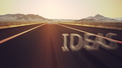 Road to success is conceptual video with important success words.