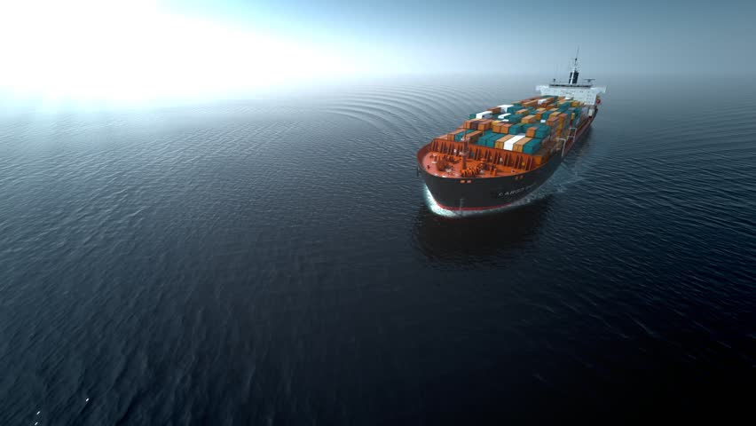 Cargo Container Ship On The Stock Footage Video 100
