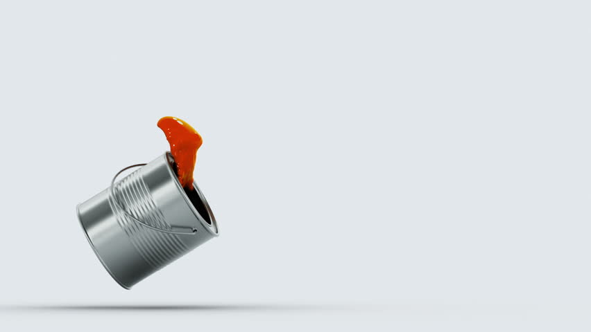 falling paint can, made in slow motion 3d animation with an alpha matte (the footage is brighter than preview)