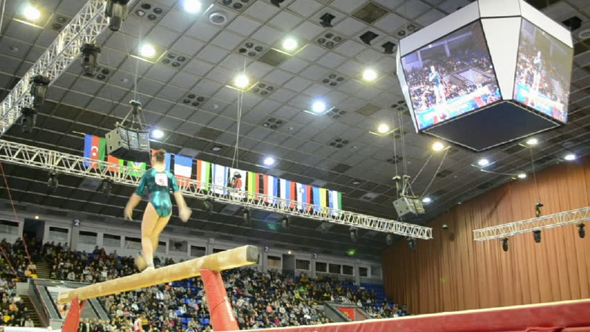 KIEV - MAR 31: Stella Zakharova Cup, International sport gymnastics competition on March 31, 2013 in Kiev, Ukraine. 14 countries take part in the tournament.