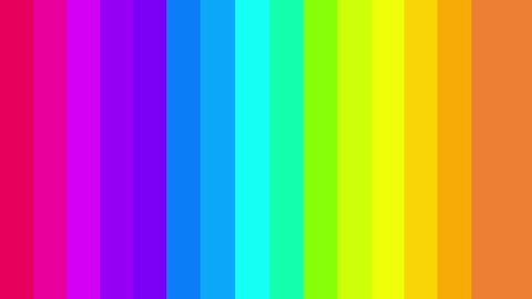 High Definition CGI motion backgrounds ideal for editing, led backdrops or broadcasting featuring rainbow colored transition moving left to right