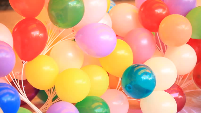 Lots Of Balloons Diffe Shape And Colors Prepared For A Party Balloon Stock Footage Video 3725465 Shutterstock
