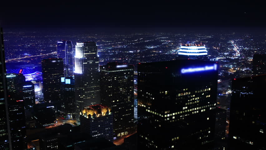 Night Cityscape Timelapse 132 Los Angeles Downtown Traffic Loop