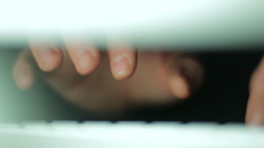 Hands typing on keyboard | Shutterstock HD Video #3734627