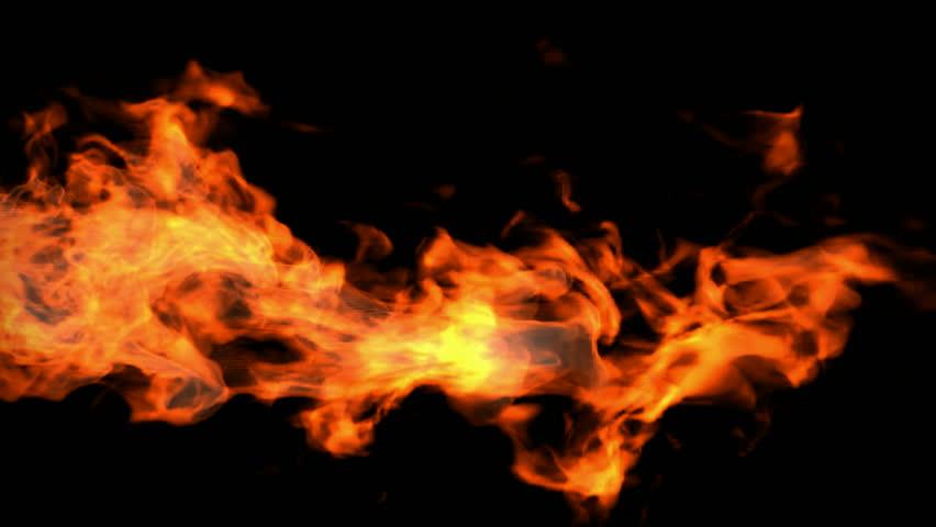 Red fire, high-definition 3d render