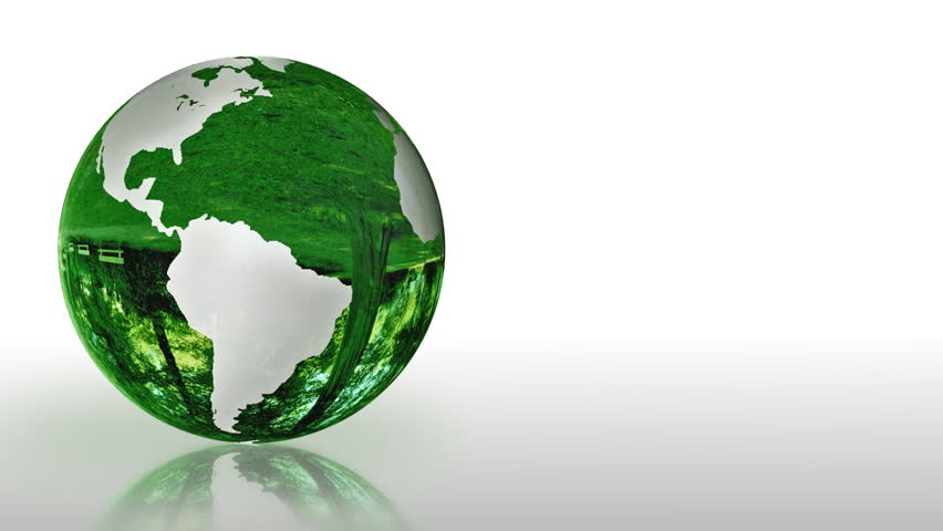 Earth Globe made of glass, environmental conservation, looping