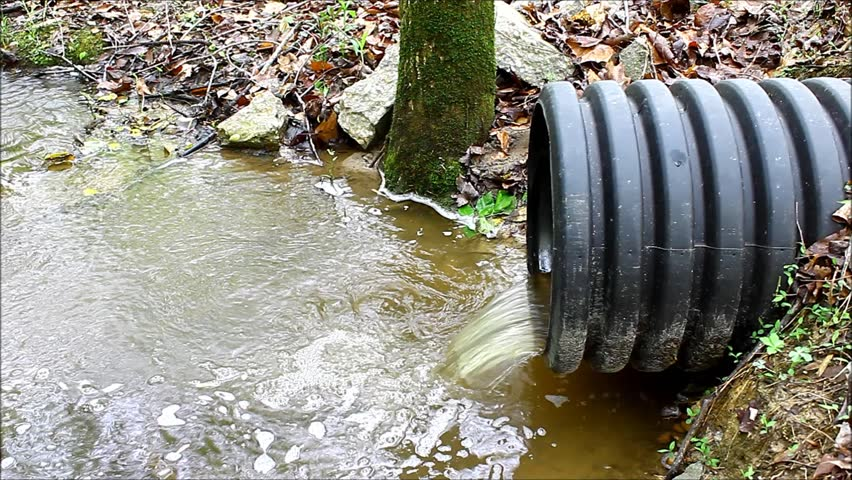 & Stock video of a waste water drainage pipe of   3776555   Shutterstock