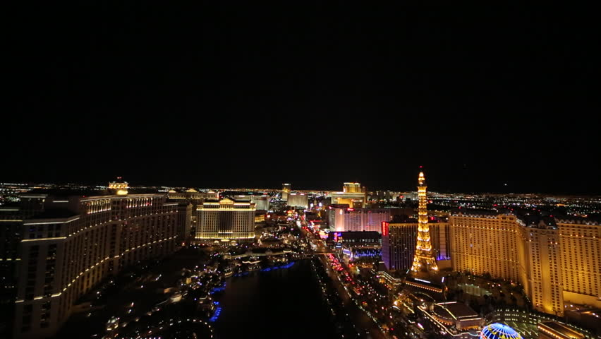Las Vegas strip wide at night | Shutterstock HD Video #3791255
