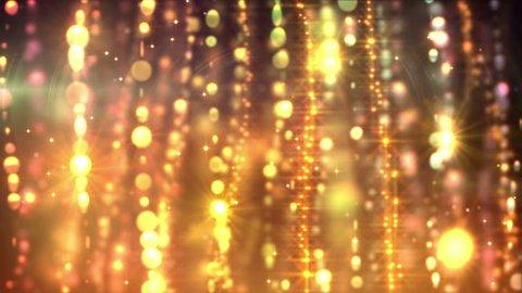 glamorous golden curtains loop