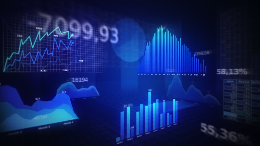 Financial figures and diagrams showing increasing profits. 360 loopable. Blue. SEE MORE COLOR OPTIONS IN MY PORTFOLIO. | Shutterstock HD Video #3823793