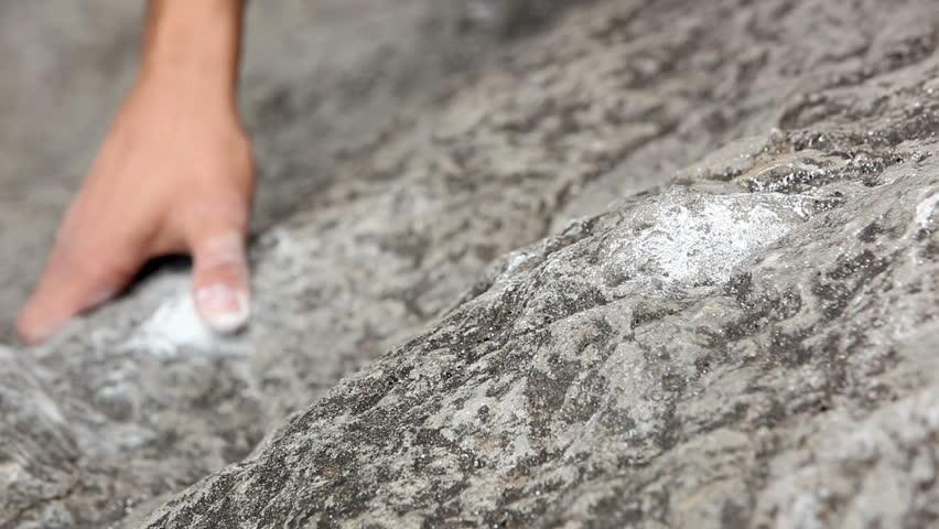 Close up of hands of a man rock climbing   Shutterstock HD Video #3824975