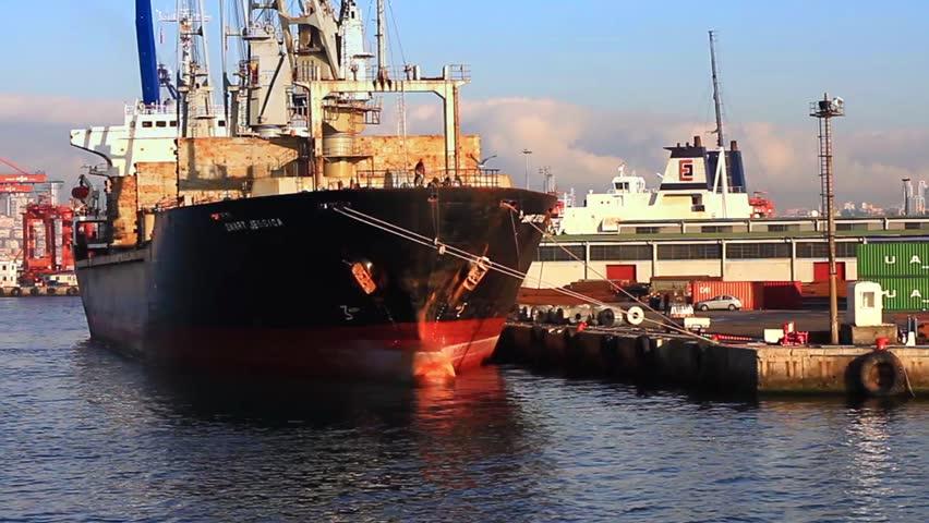 ISTANBUL - NOV 12: Cargo ship SMART JESSICA (IMO: 8200618, St Vincent