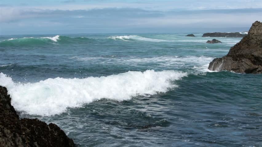 Beautiful Pacific Ocean Waves Rolling Stock Footage Video ... Pacific Ocean Waves