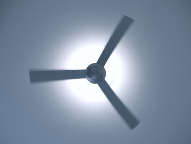 Silver ceiling fan rotating start spin stock footage video 3853460 ceiling fan loop sd stock video clip aloadofball Images