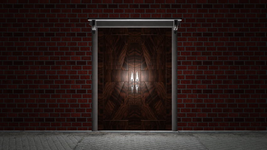 Door Open To Reveal. Wooden Doors Open In A Brick Wall To Reveal Whatever You Want To Put In The Background. Includes An Alpha Matte To Use ... & Door Open To Reveal. Wooden Doors Open In A Brick Wall To Reveal ... pezcame.com