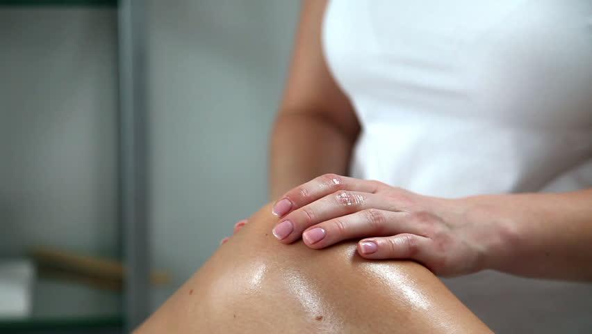 Woman preparing for waxing legs